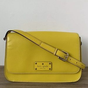 Kate Spade New York Shoulder Purse Flap Bag Yellow